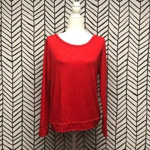 Victoria's Secret Basic Red Long Sleeve Tee